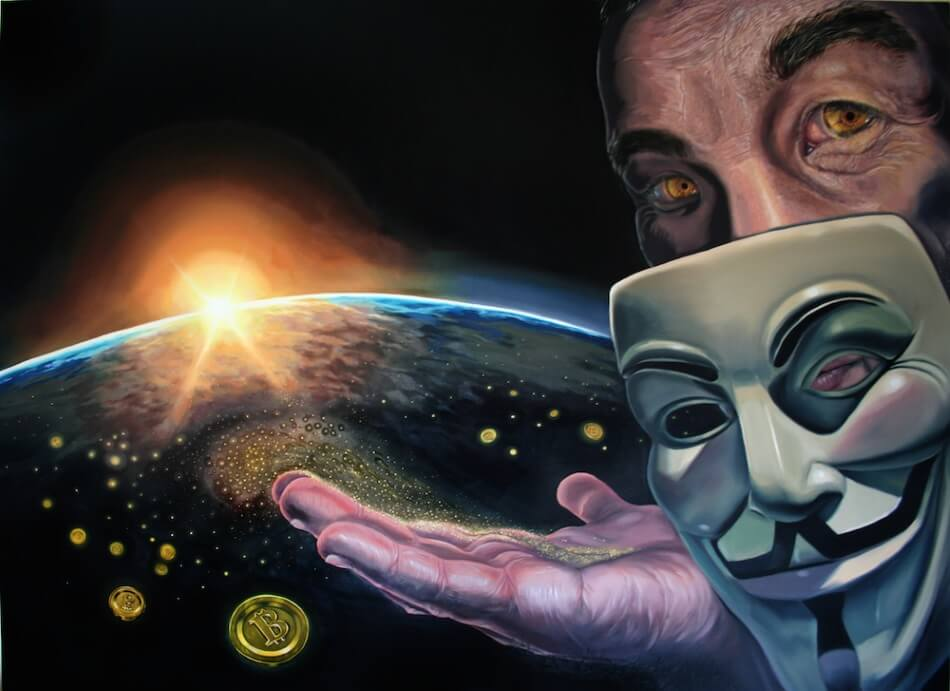 eye of god bitcoin painting