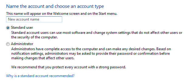 Windows account