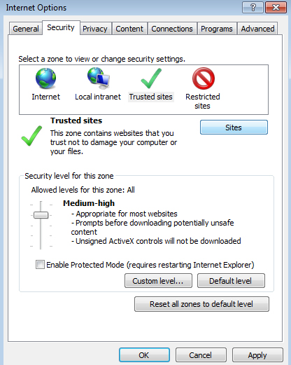 4.Security Trusted sites