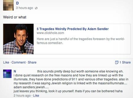 Adam Sandler conspiracy