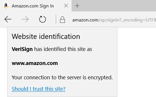 Amazon SSL certificate