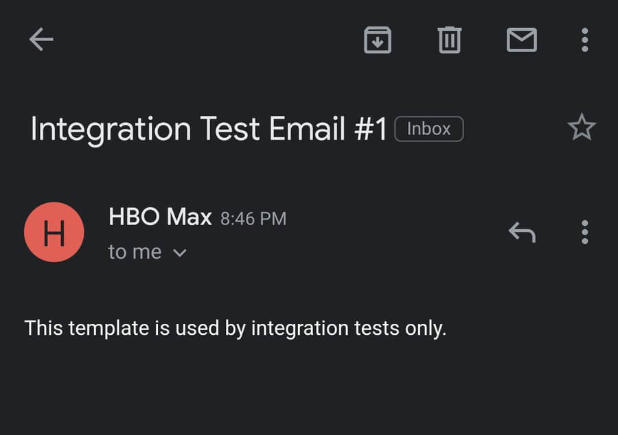 HBO MAX Email