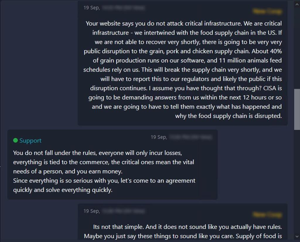 BlackMatter Ransomware Leaked Discussion