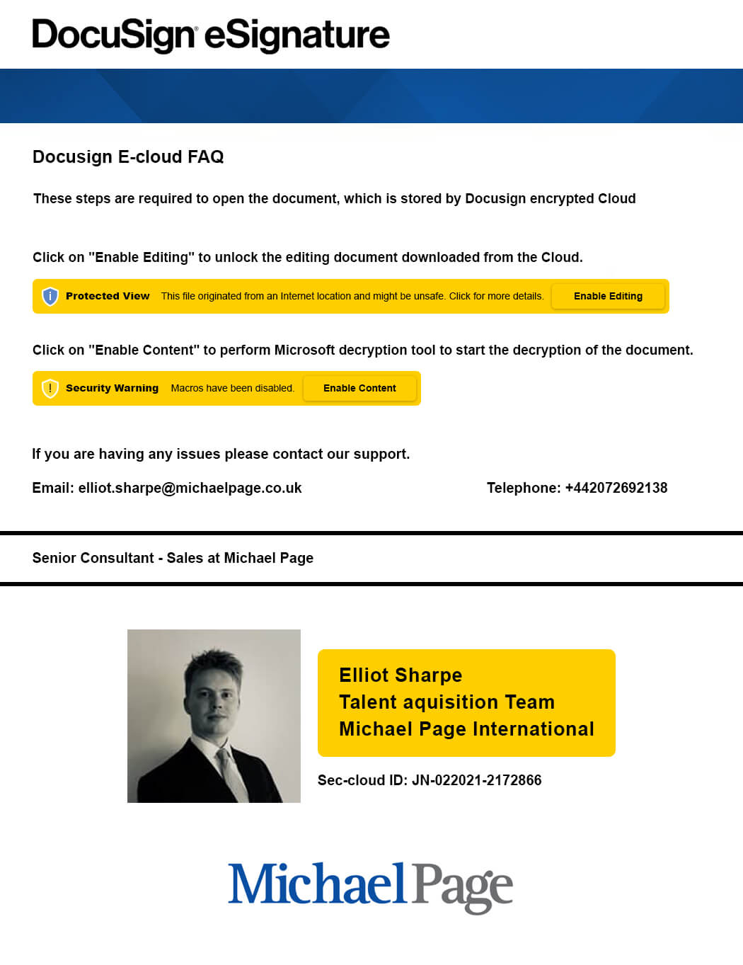michael page phishing campaign image heimdal security
