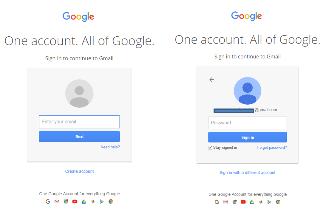 Gmail Login Procedure Email And Password Two Factor Authentication