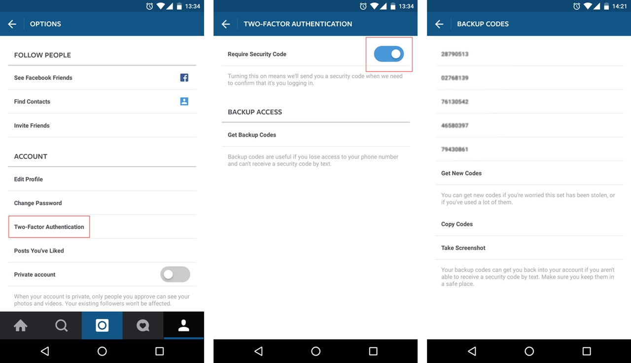 Instagram Security  How To Activate Two Factor Authentication