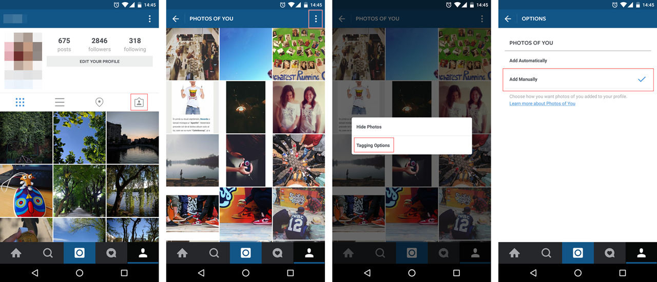 Instagram security - how to add photo tags manually