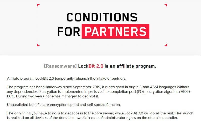 LockBit Ransomware affiliates