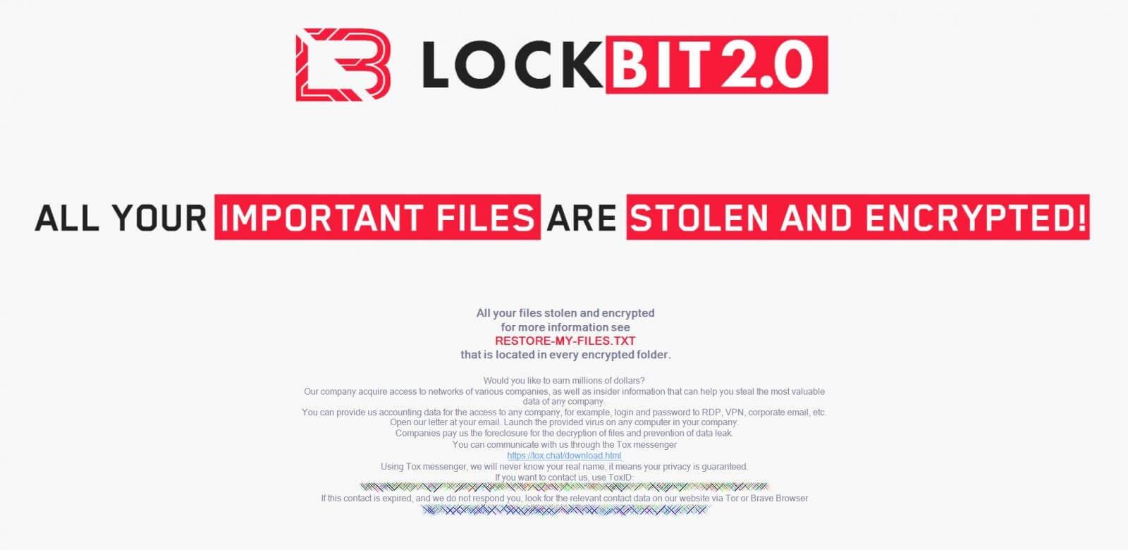New LockBit 2.0 wallpaper recruiting insiders