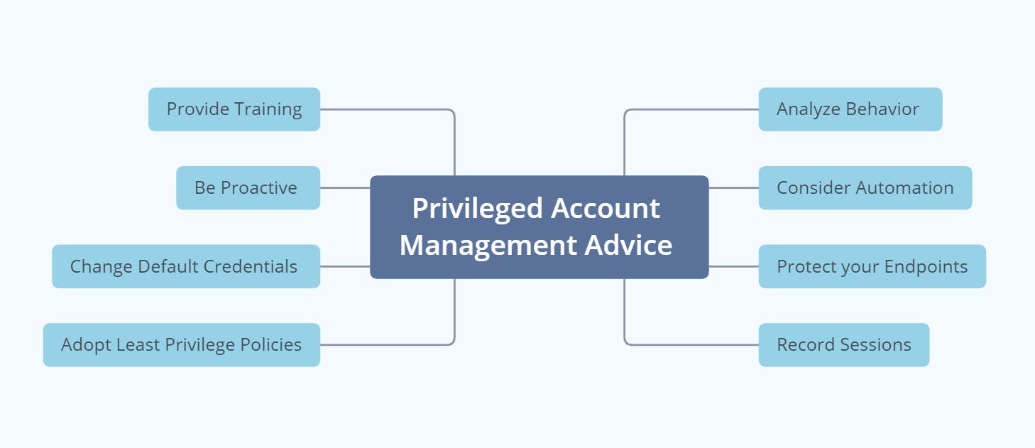 privileged account management - advice