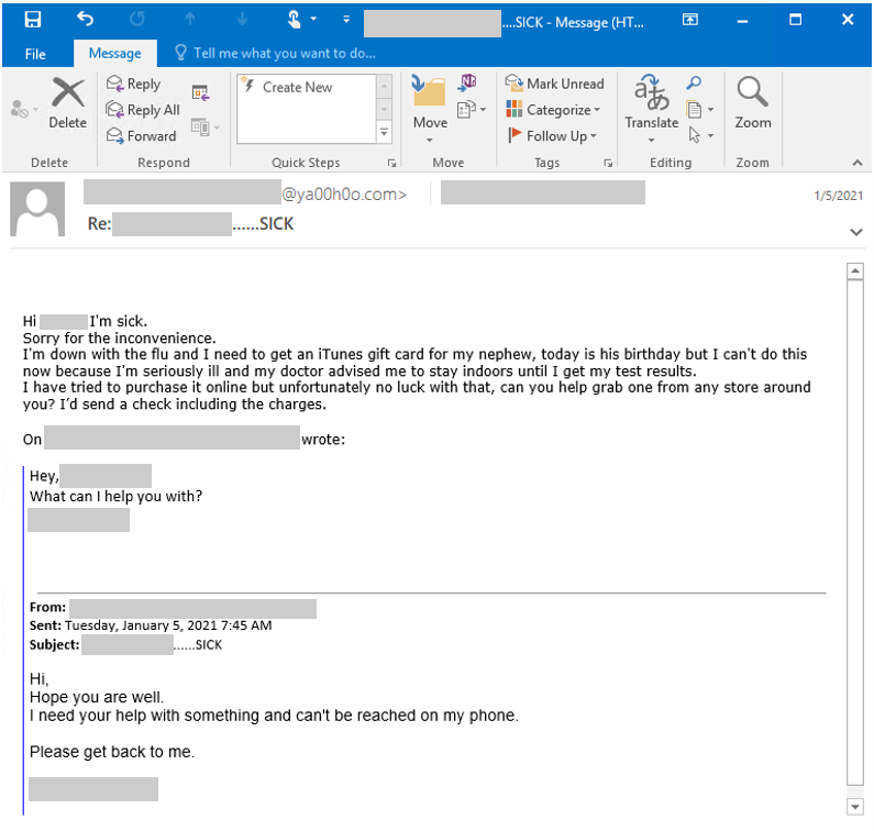 Phishing BEC email heimdal security