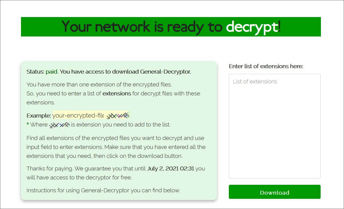 REvil decryptor available after ransom was paid by JBS