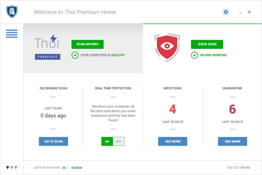 Thor Premium Home how to remove malware