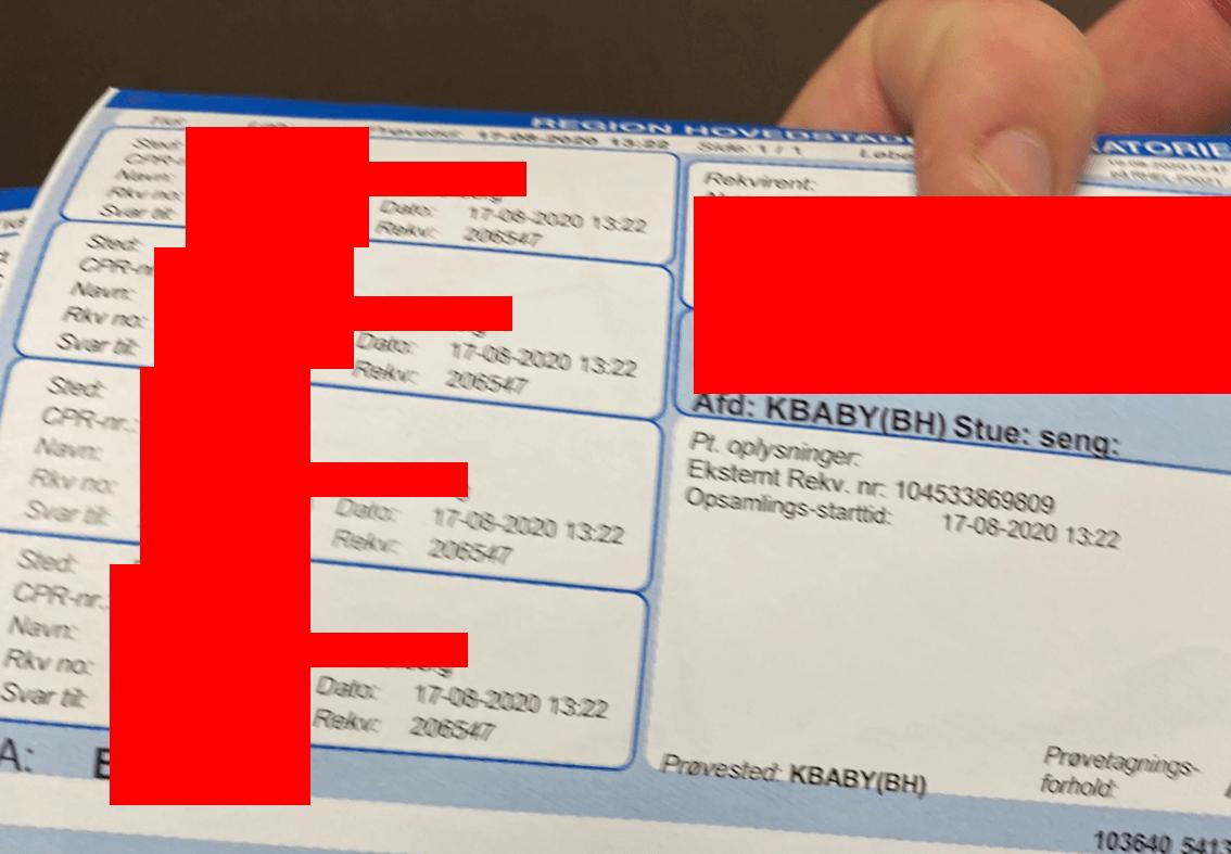 blood work results Danish