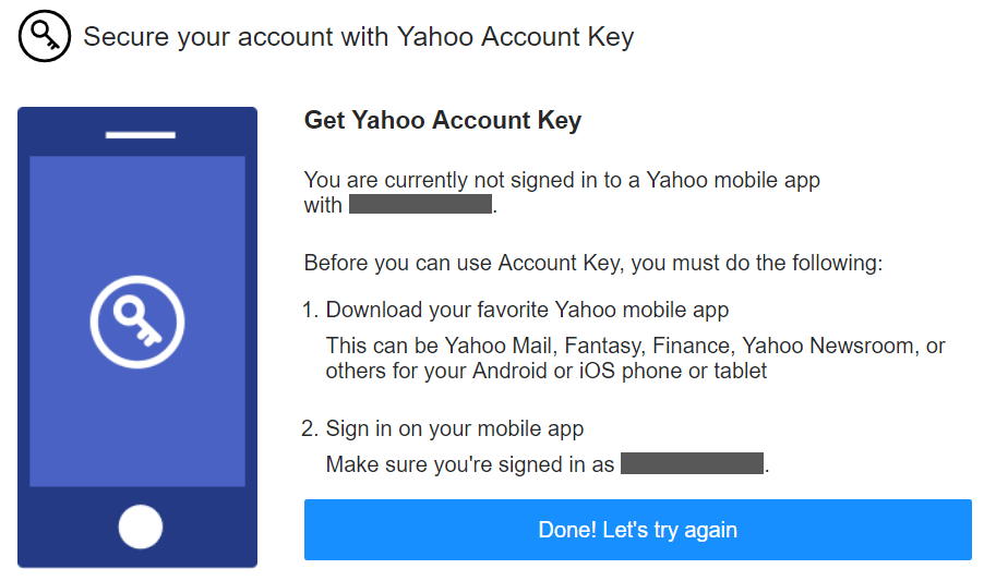 yahoo mail account key bypass
