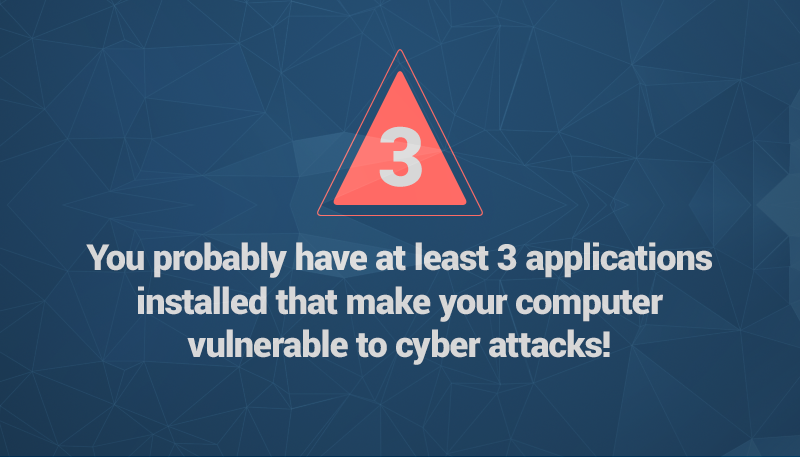 at least 3 applications you use are making your vulnerable to cyber attacks heimdal security