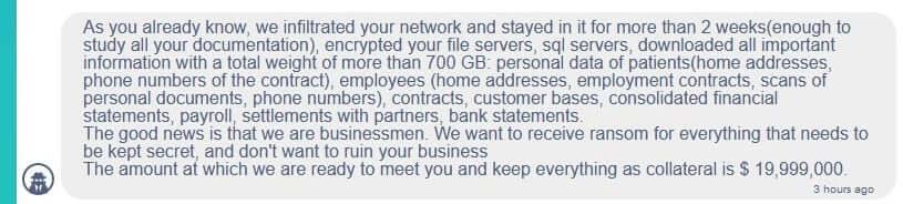 Conti Ransomware Request