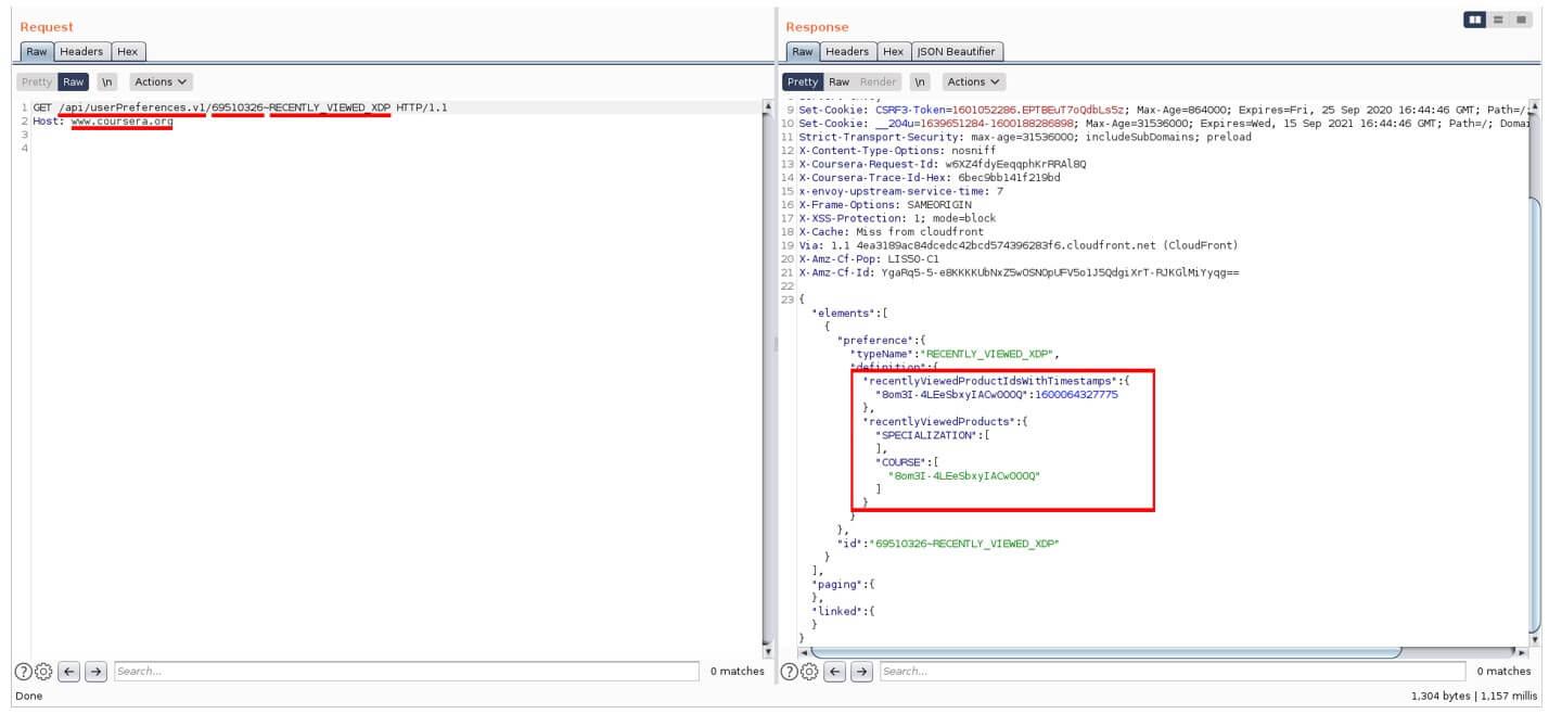 coursera API vulnerabilities