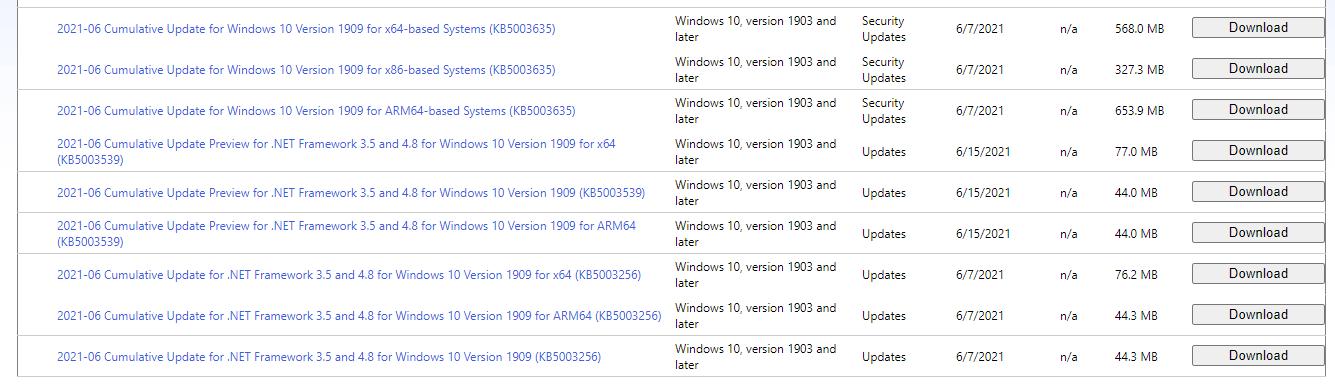 ADV bug updates
