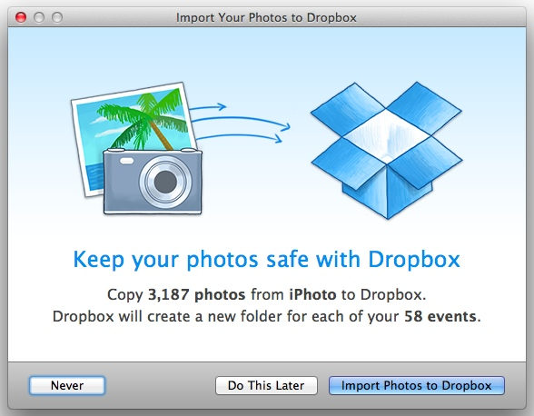 dropbox iphotos