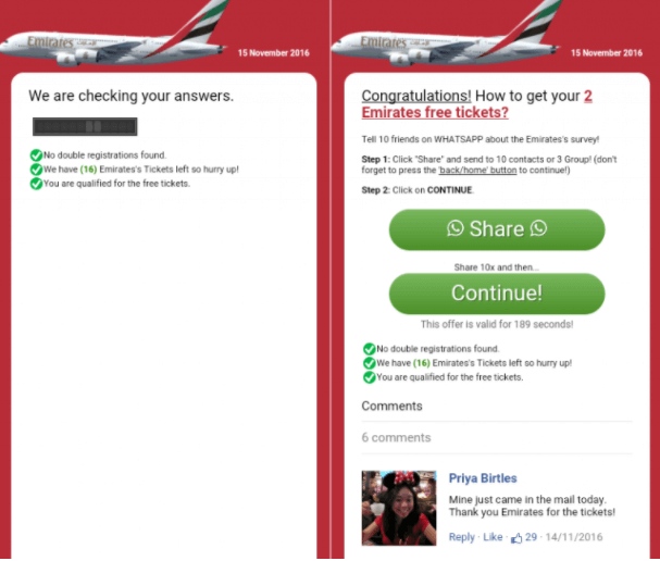 emirates free tickets a common free airline tickets scam