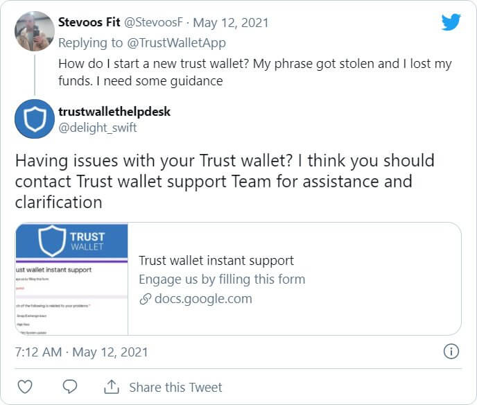 fake-trustwallet-support-tweet