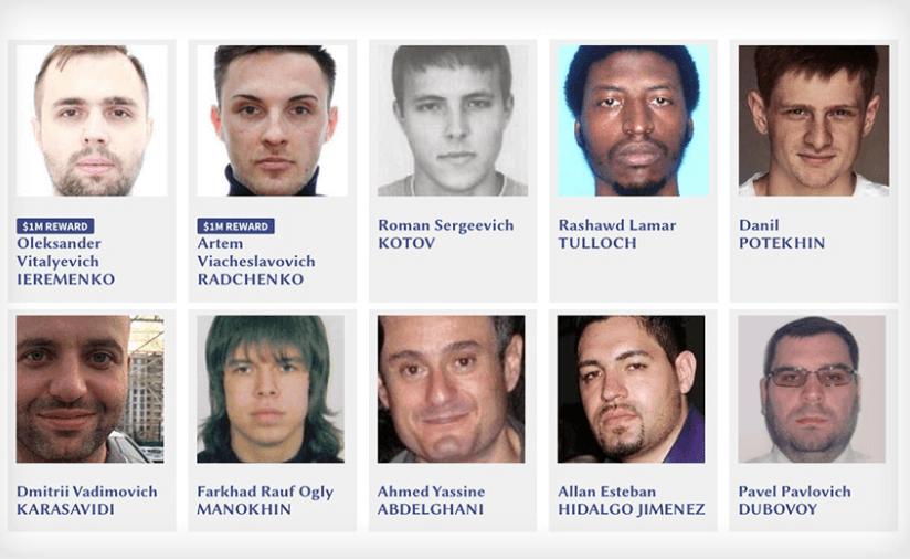 Secret Service's List on 10 Most Wanted Cybercriminals
