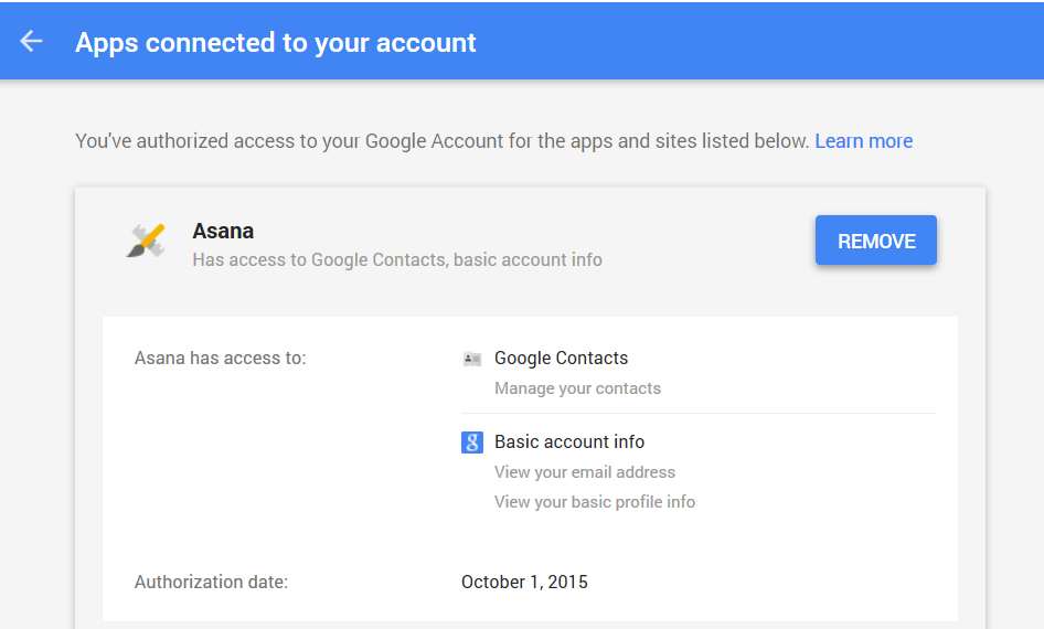 google - apps connected to your account  2