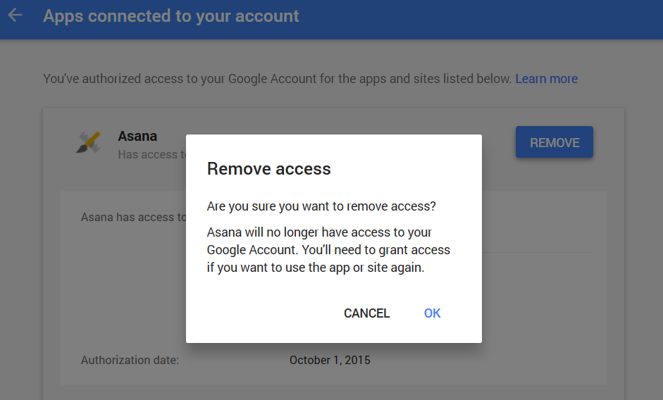 google - apps connected to your account  3