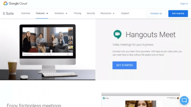 Google Meet Screenshot