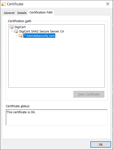 PKI SSL/TLS certificate chain of trust