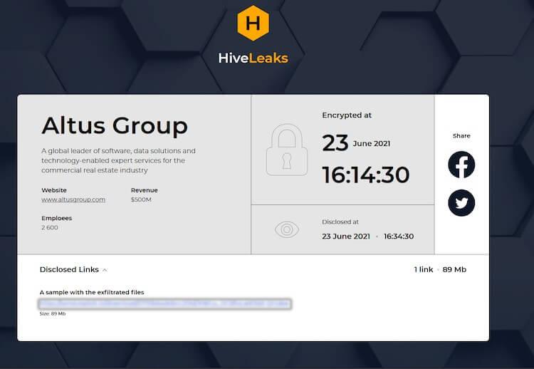 hive-leaks-blur Altus Group image heimdal security