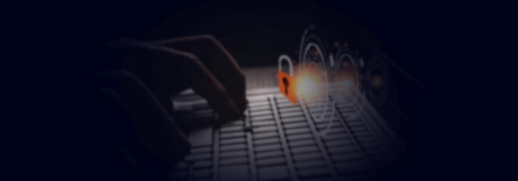 human hand touching computer keyboard