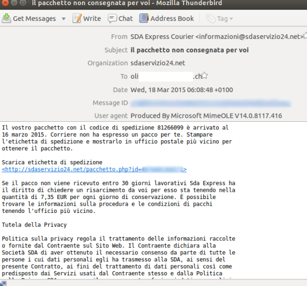 italy scam malware