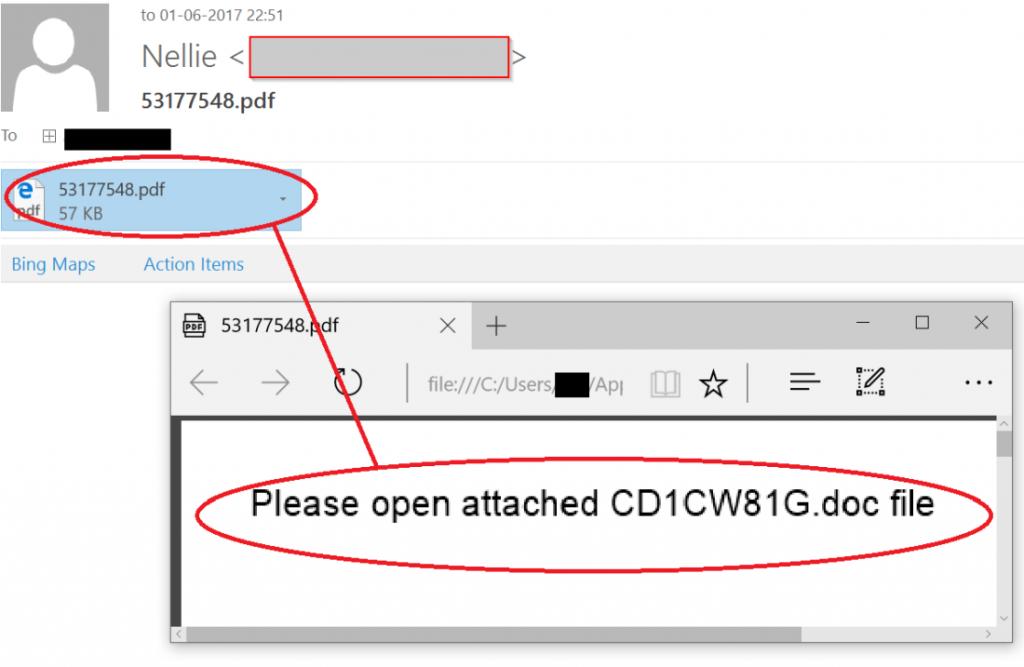 jaff ransomware malicious PDF