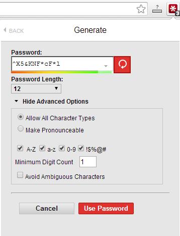 lasspass password generator