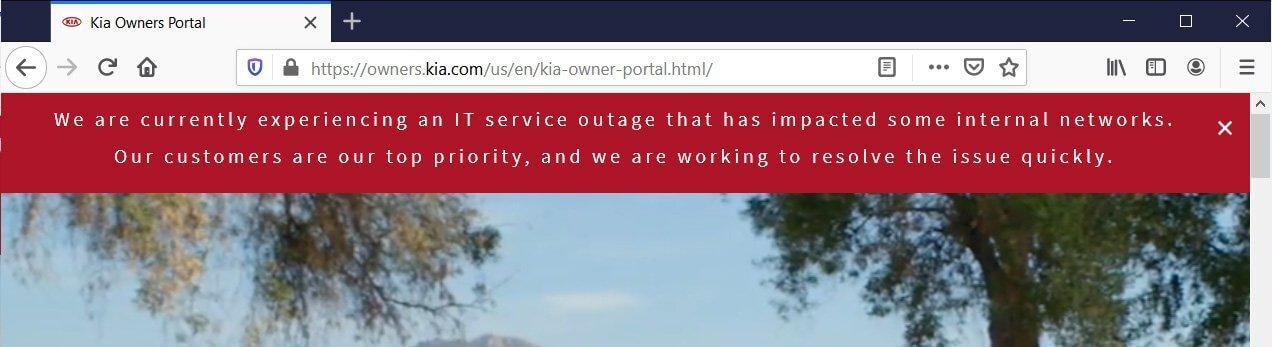 Kia outage HP