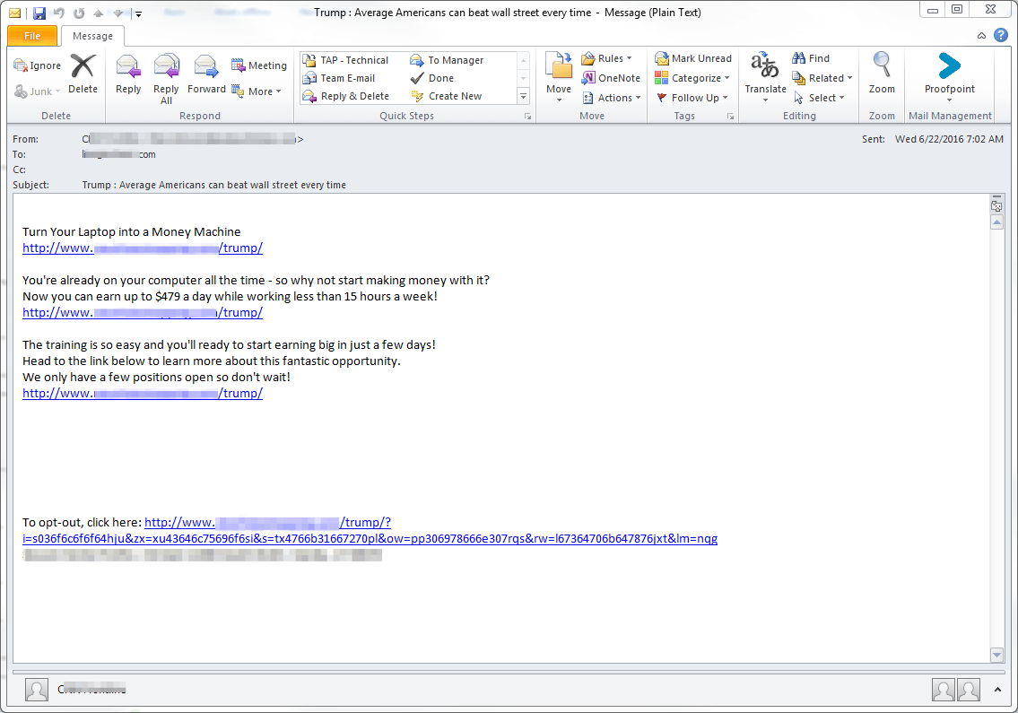 phishing spam mail