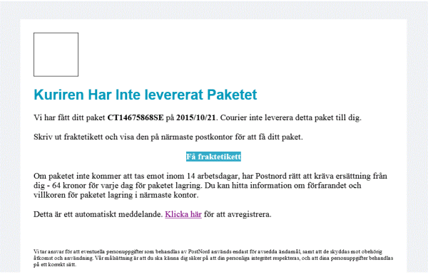 postnord attacks targeting sweden cryptolocker