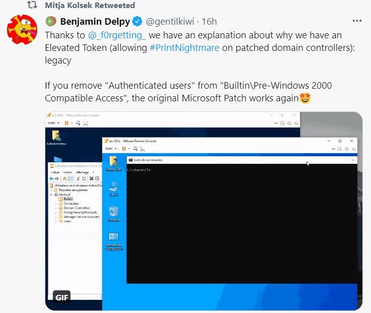 Update for PrintNightmare Exploit