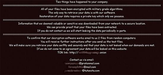 nefilim ransomware note