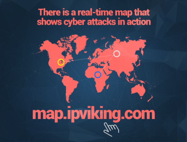 real time map of cyber attacks heimdal secuity