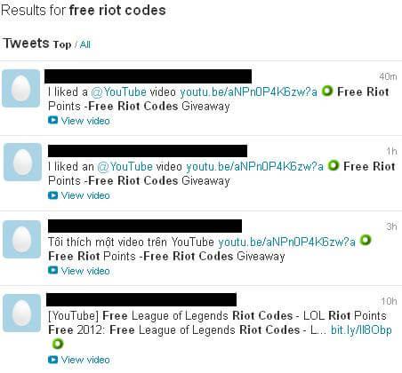 riot games fake giveaway online scam