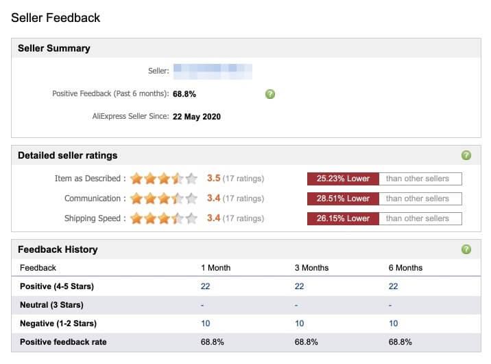 is AliExpress safe? - seller feedback