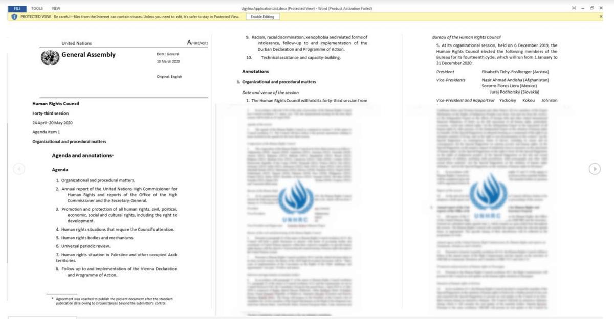 Uyghurs cyberattack
