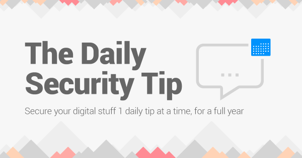 the daily security tip