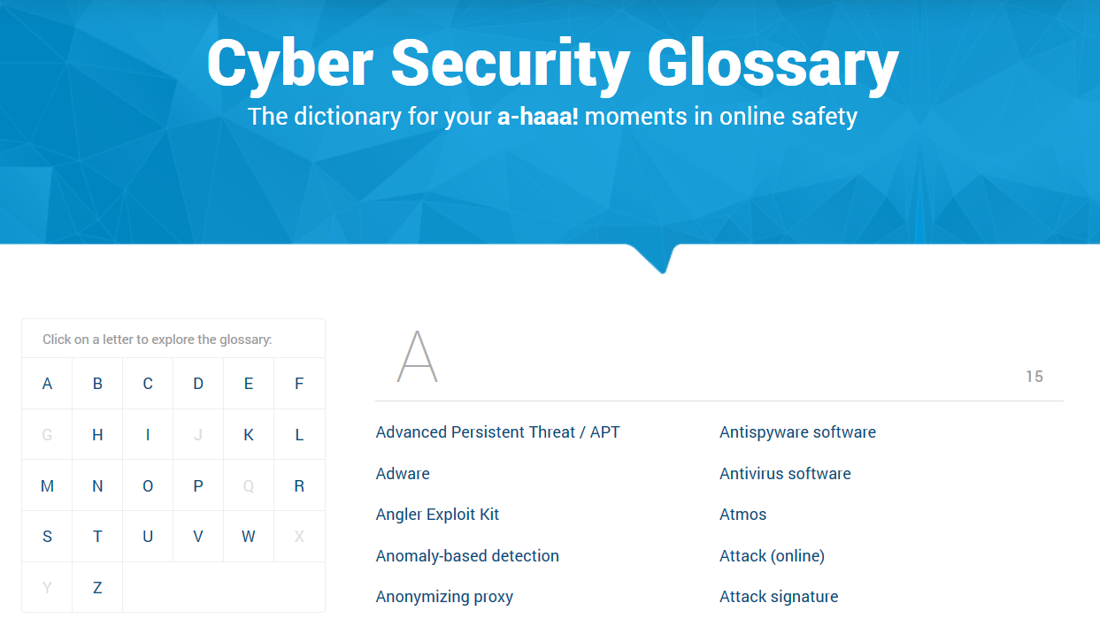 the heimdal cyber security glossary snapshot