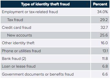 types of identity theft damage